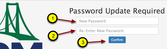 """Type in new password and then again! Click """"Confirm."""""""