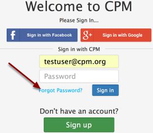 "Click the ""Forgot Password""."