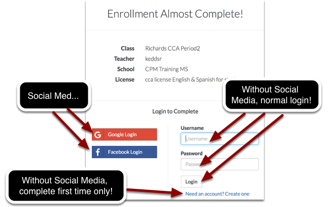 There are two ways you can enroll: