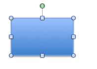 2. This is the rectangle I selected.  I wanted no fill, a black line border, and no shadow.