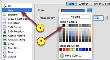5. Now choose 'Line'. I chose a black color.