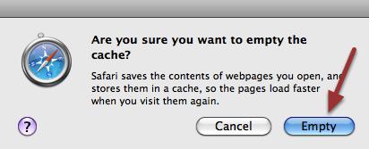 5. A popup menu will appear. Click 'Empty'.