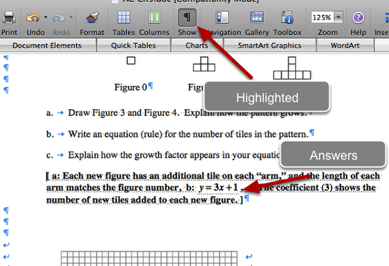 d. Click and unclick the paragraph to view and hide answers.