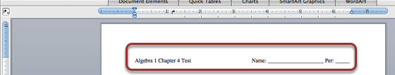 1. Boot your Word document and add your Chapter Headings as you prefer.  Then enter a couple of times.