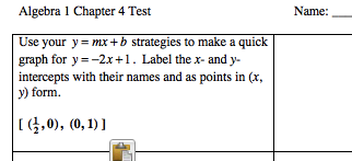 5. Once you have done this, add a problem number.  You can also highlight the answer and make it hidden text.  Or you can delete it.  You can also add a blank for the answer or ask students to show work here.