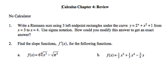 6. Assessments include a Team Test for Precalculus and a Review for Calculus.