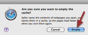 A popup menu will appear. Click 'Empty'.