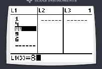 Modify a list item by moving the arrow keys to the item and typing another number.