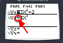 "Disable a function by selecting the ""="" sign and press [ENTER]."