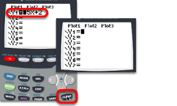 To clear functions, select them and press [CLEAR].