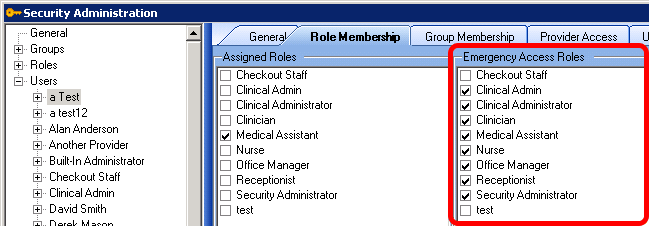 Security Administration: Emergency Access Role