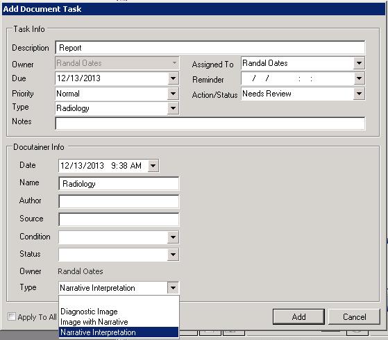 Radiology Document Type