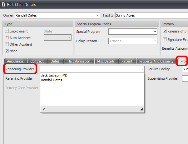 More Info->Provider Tab->Rendering Provider only lists Active Providers within Provider Manager
