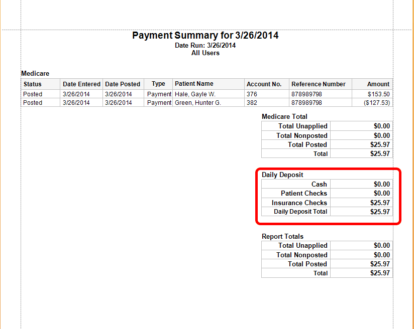 View Payment Summary