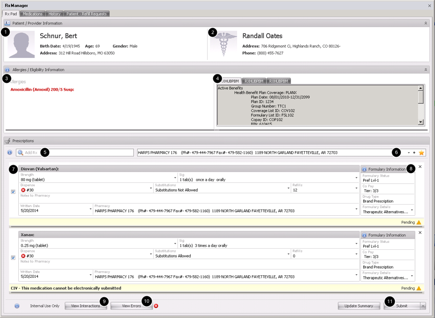 The New Rx Manager User Interface