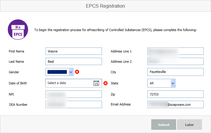 EPCS Registration and Onboarding
