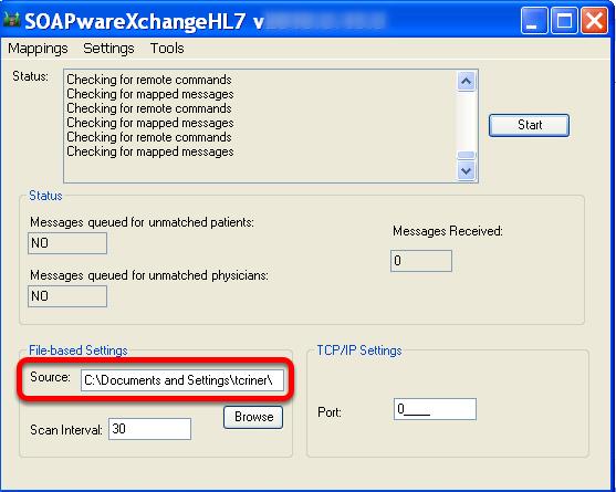 Ensure the Source Folder is set Correctly