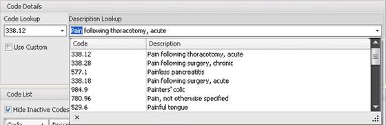 ICD Search by description