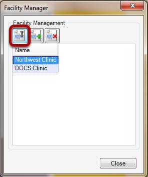 Edit a Facility
