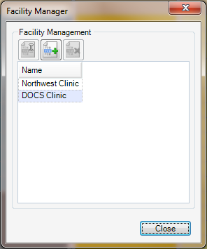 Open the Facility Manager