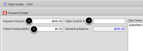 Enter Claim Details using Remit/EOB