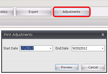Printing Adjustments