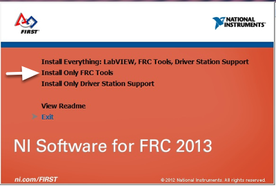 Installing the 2014 NI Tools (Optional - Required for Imaging the cRIO and running the FRC Driver Station)