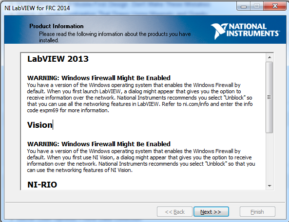 Firewall Warnings