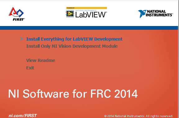 Select installation option