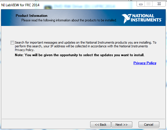Search for Updates