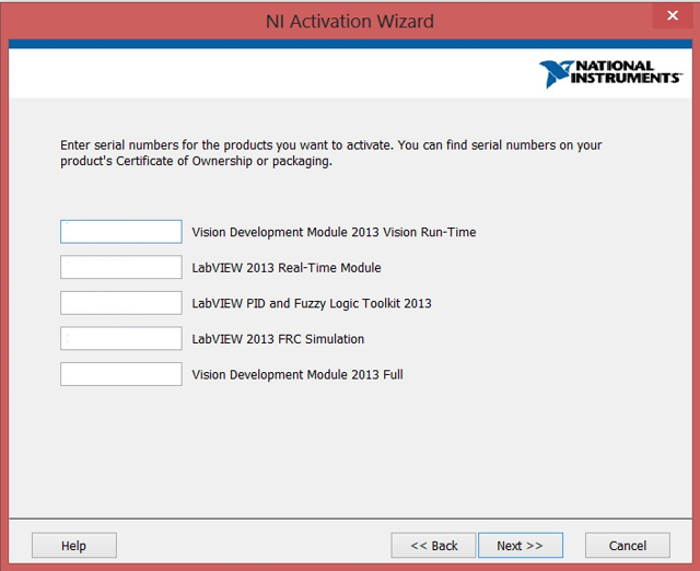 Serial Number Confirmation