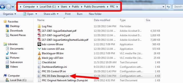 Open FRC DS Data Storage