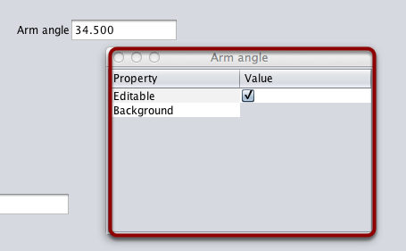 Editing the properties on a field