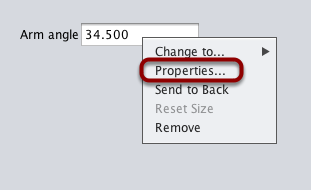 Getting the properties editor for a widget