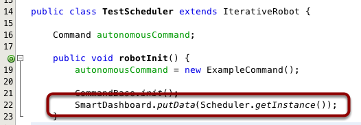 Displaying the Scheduler status