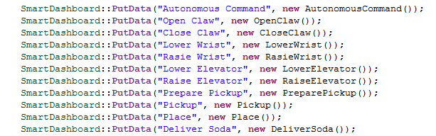 Adding commands manually