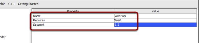 Setpoint Command parameters