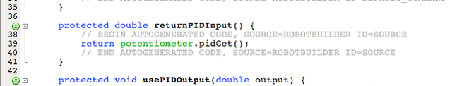 Look at the autogenerated code from RobotBuilder for returnPIDInput