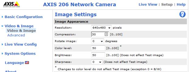 Check Camera Settings
