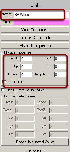 Set link properties