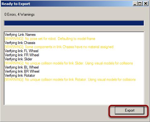 Exporting model