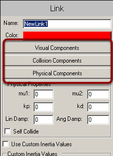 Opening the component selector panel