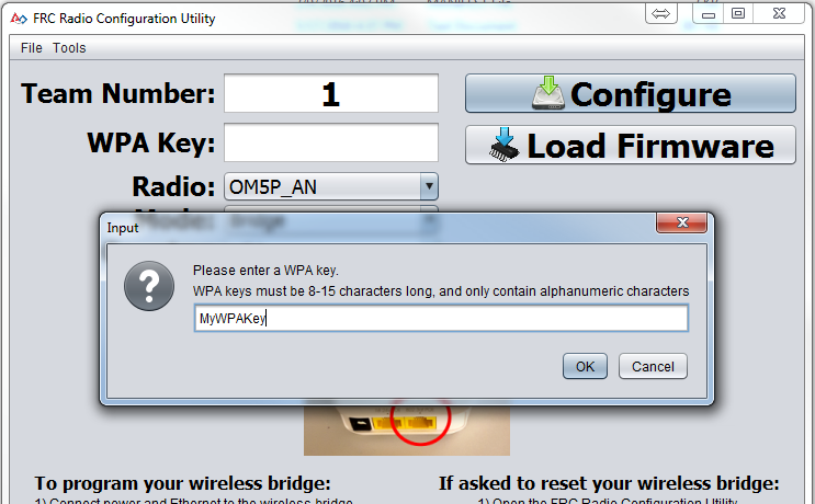 Enter WPA Key