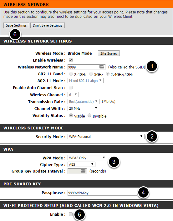 Configure Wireless Settings