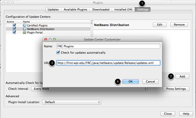 Setting the internet plugin location in NetBeans