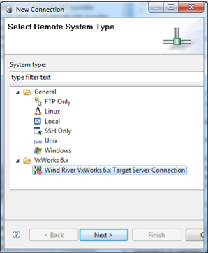 Specifying the connection type