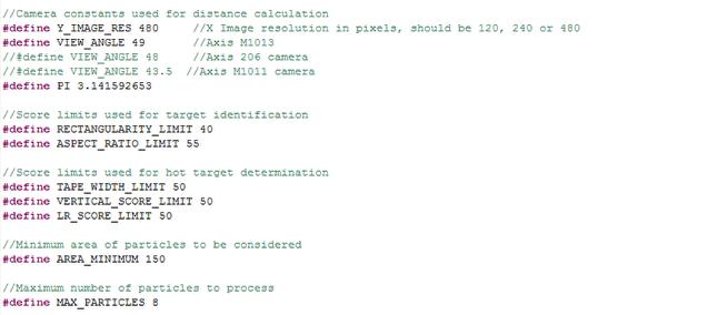 Code Constants