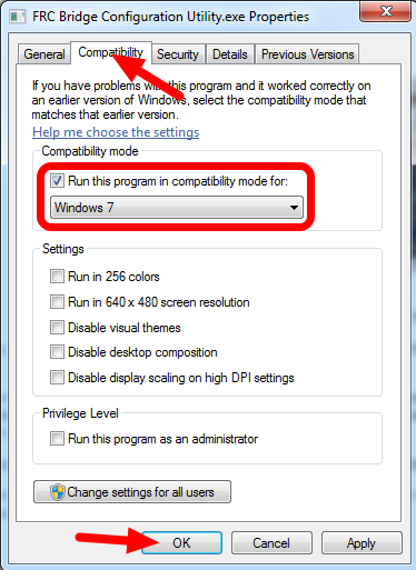 Windows 8 - Set Compatibility