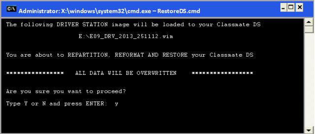 Confirm Restore