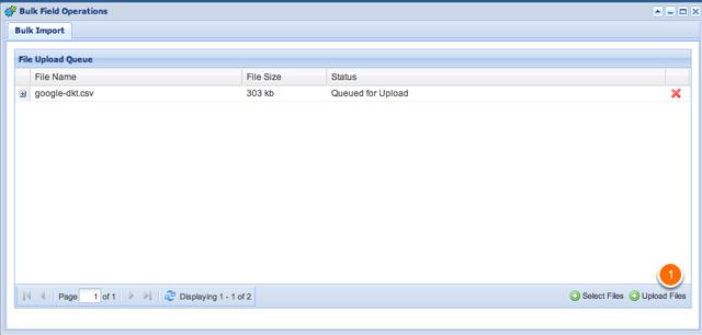 Choose Upload Files